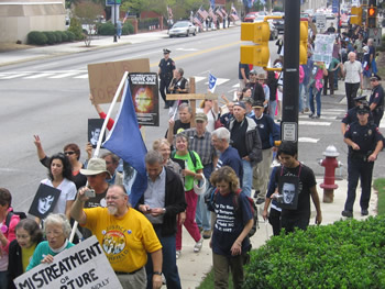 "North Carolina: Protesters Slam CIA, Say, ""Stop the Smithfield Torture Flights"""
