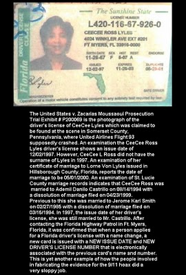 Fake Driver's License from Flight 93 Crash Site