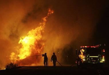 Fire Consumes 30 Acres in Banning, CA - Arson Suspected