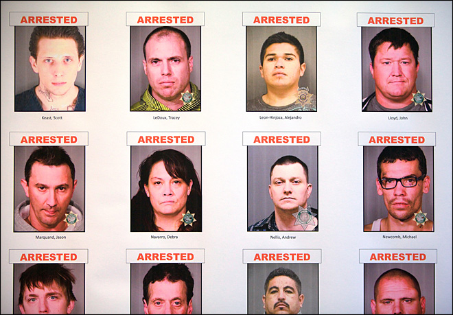 Police Net 40 Arrests, Eight Pounds of Meth in White Supremacist Gang Crackdown
