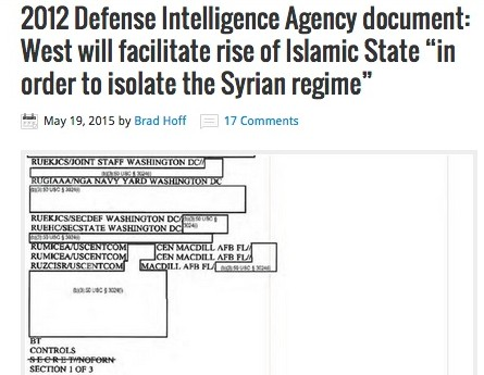 DIA Documents re ISIS: The Fall And Rise Of The West's Death Squad Strategy