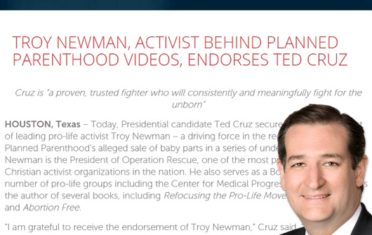 Ted Cruz Teams Up with Right-Wing Extremist Who Called for Execution of Abortion Doctors