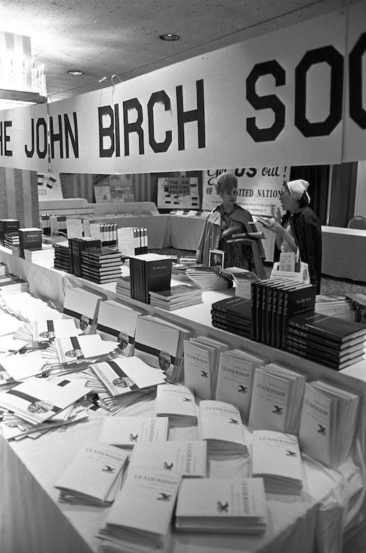 New England Rally for God, Family & Country by the John Birch Society Exhibit held at the Statler Hilton Hotel on Park Square, Boston, 1972.